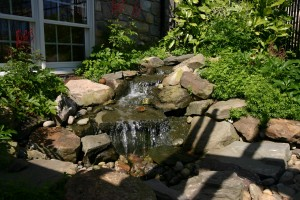 Pondless Waterfall and Streams landscaping & design in Howard County, Baltimore, Carroll, Frederick & Montgomery counties.