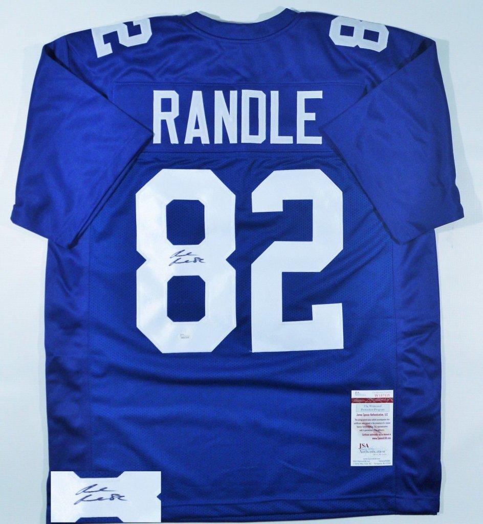Rueben Randle Signed New York Giants Custom Blue Jersey ...