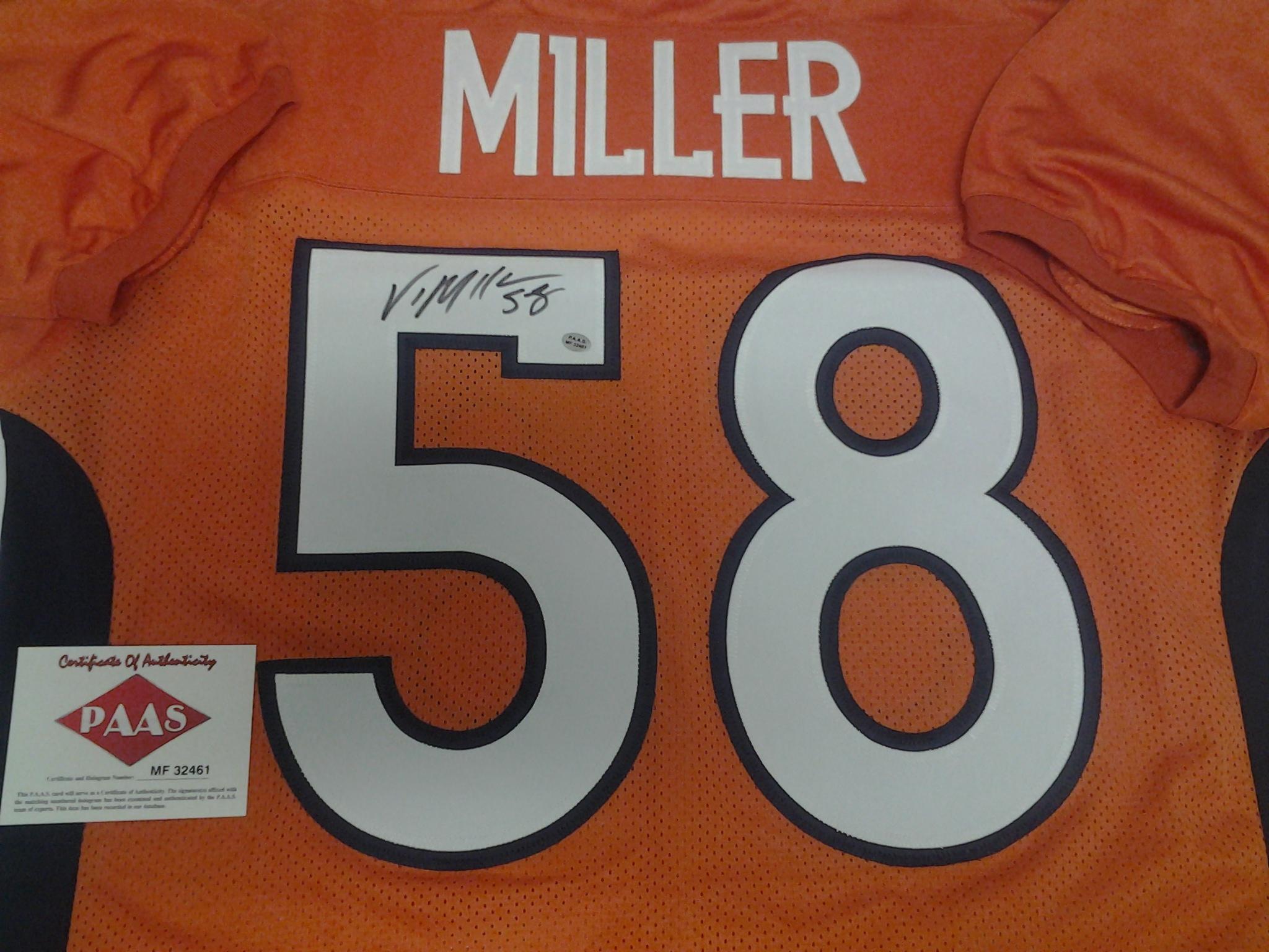 Von Miller Denver Broncos Signed Autograph Orange Custom Jersey JSA Witnessed Certified