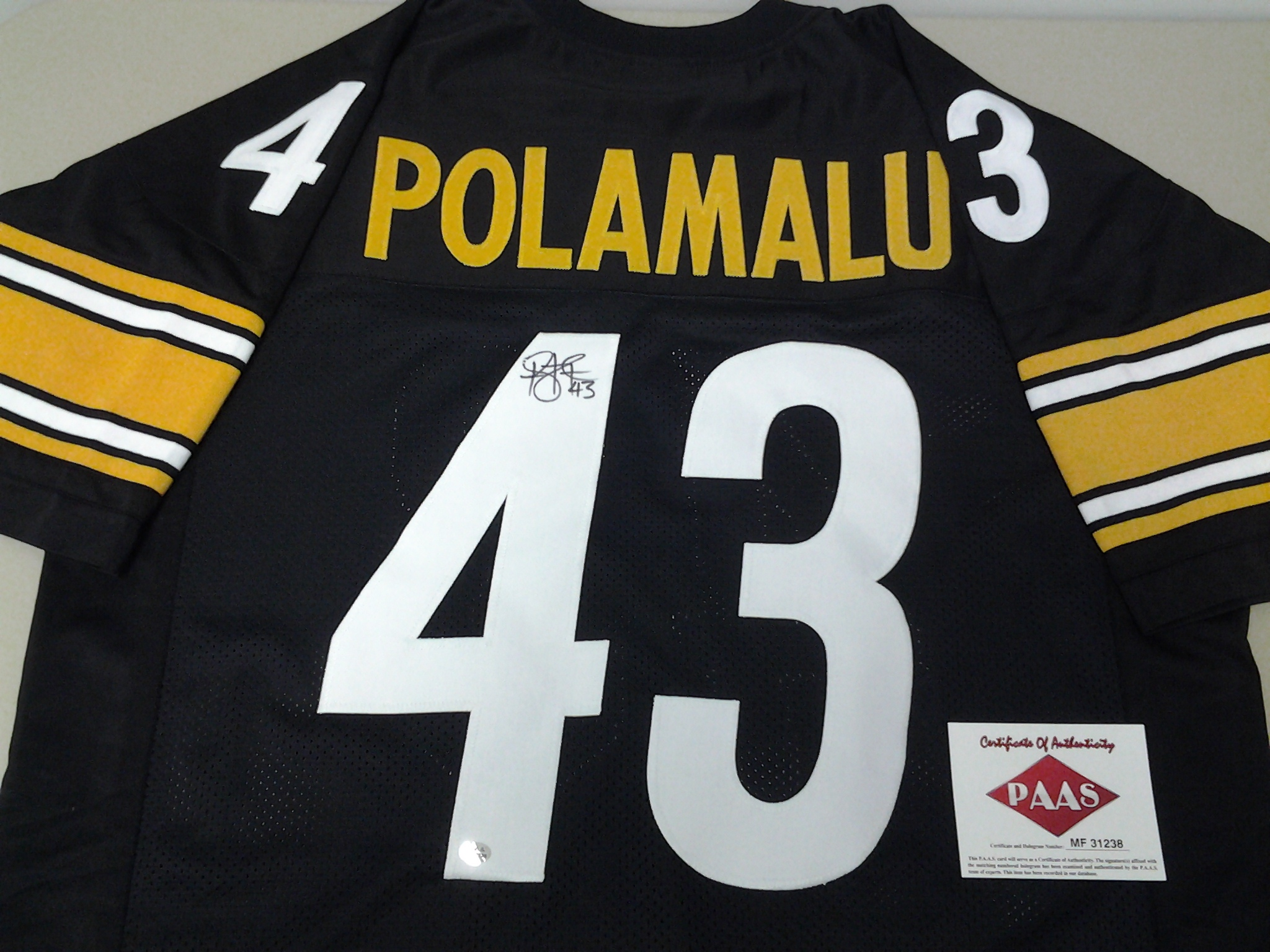 d6604ac00 Troy Polamalu Pittsburgh Steelers signed autographed Jersey
