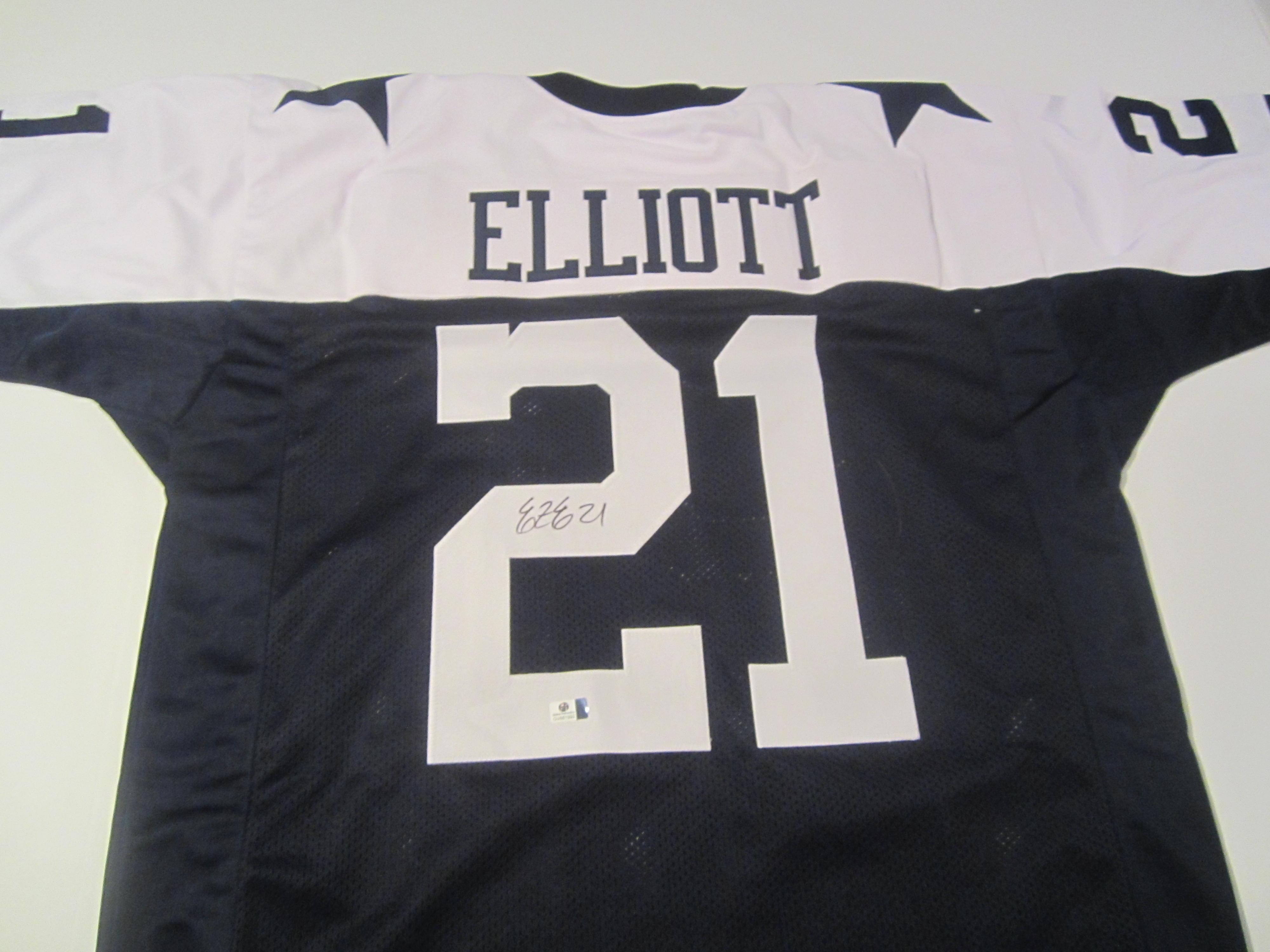 new concept 7a919 1d039 Ezekiel Elliott Dallas Cowboys Hand Signed Autographed Jersey