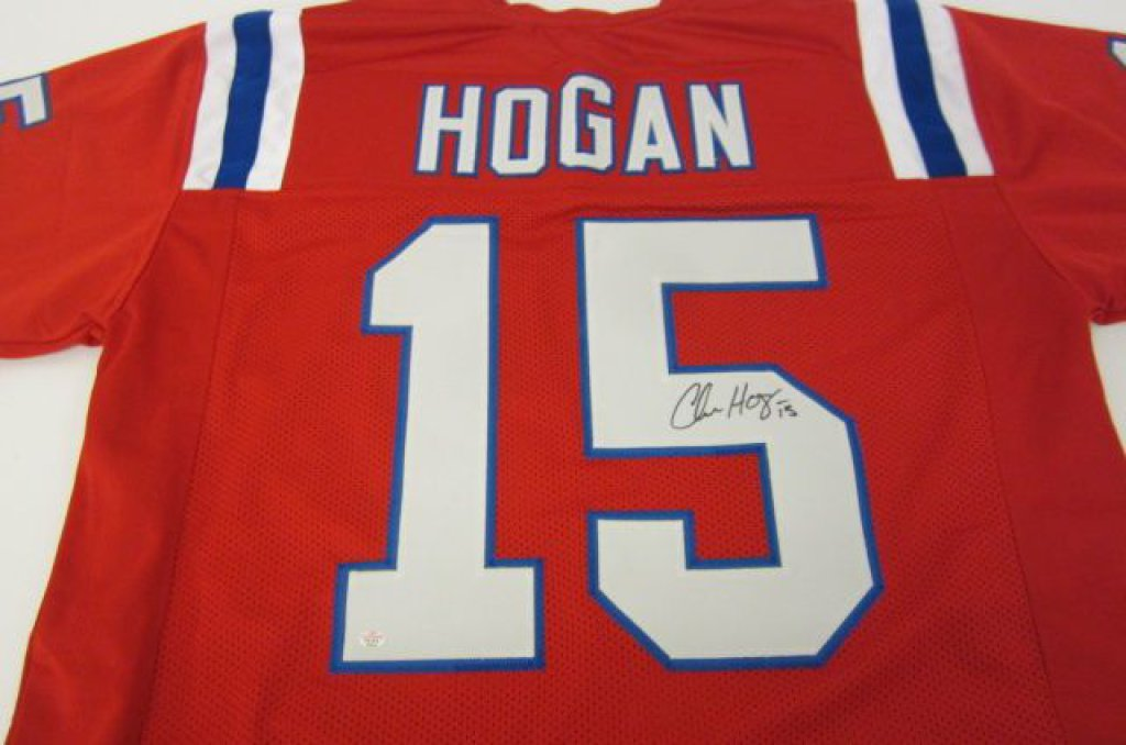 Chris Hogan New England Patriots signed Jersey » Budd's Collectibles