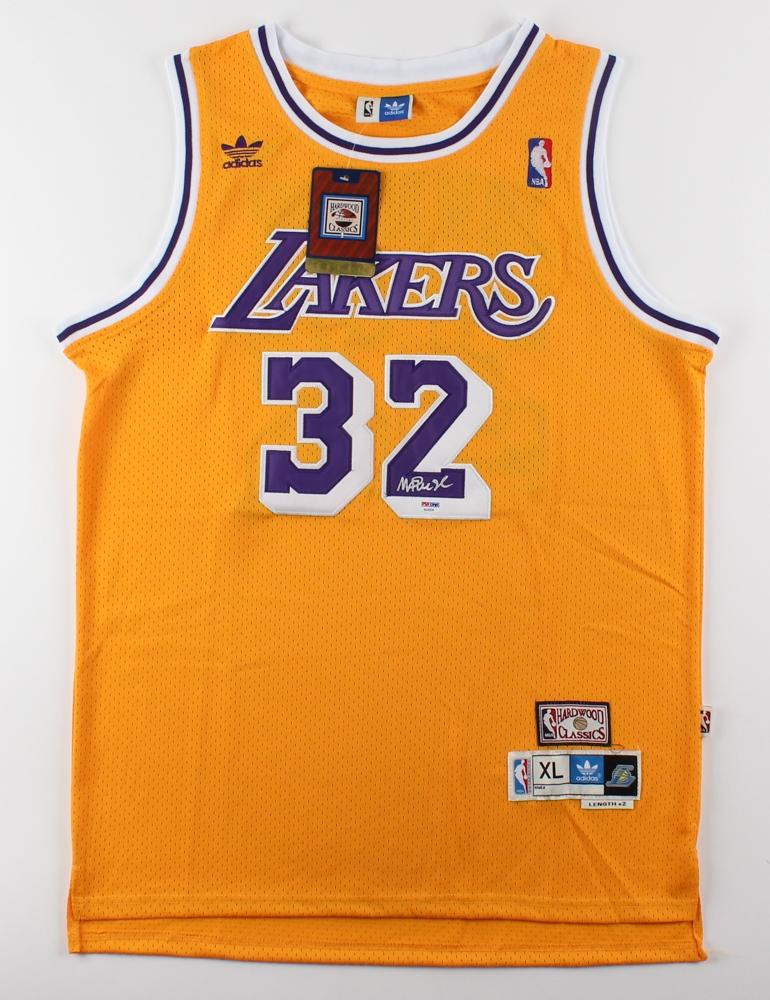 competitive price e96fb 72cfa Magic Johnson Signed Los Angeles Lakers Adidas Jersey » Budd's Collectibles