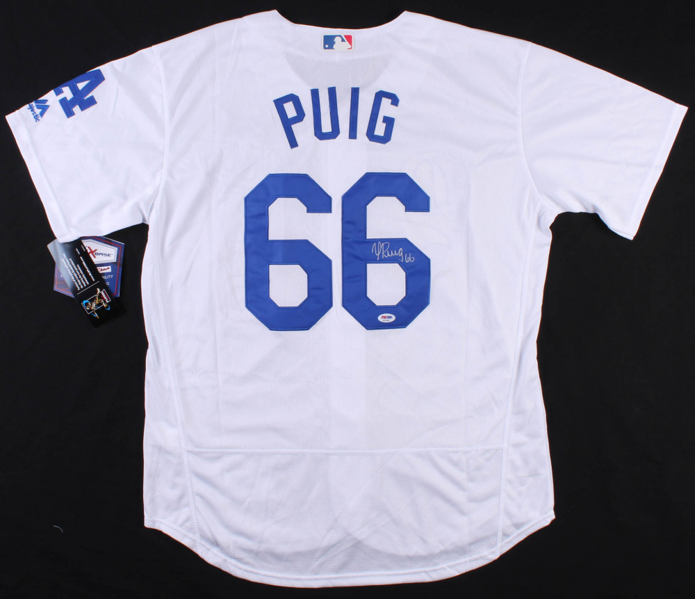 separation shoes 156ab 7f8d1 Yasiel Puig Signed Los Angeles Dodgers Jersey » Budd's Collectibles