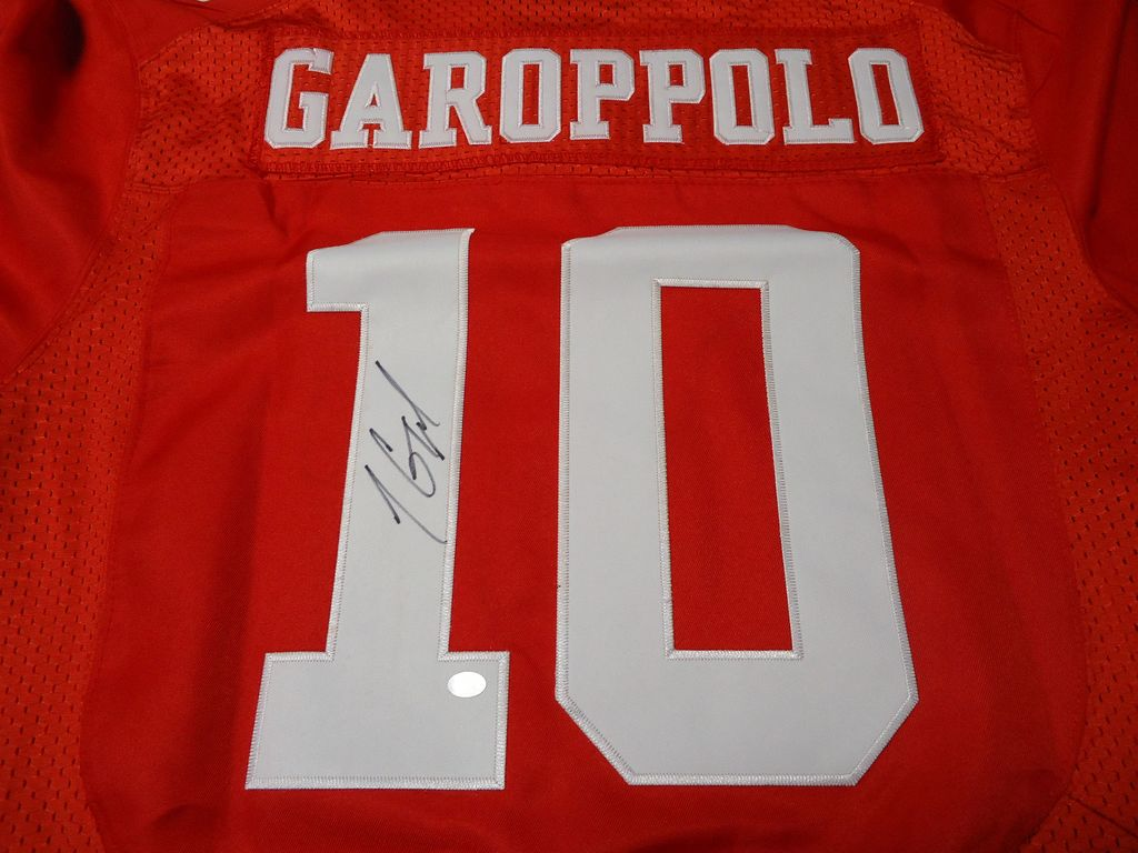 100% authentic 054e1 8e131 Jimmy Garoppolo of the San Francisco 49ers Signed football jersey » Budd's  Collectibles