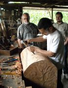 Carving a Wooden Chest