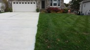 driveway turf repair after