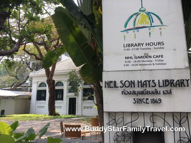 ห้องสมุด Neilson Hays, ห้องสมุด, เนลสัน, เฮย์, สุรวงศ์, เปิดปิด, เดินทาง