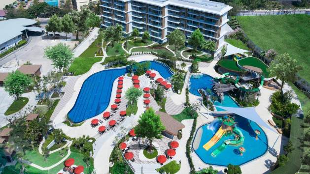 โรงแรมสวนน้ำพัทยา,ที่พัก,พัทยา,สวนน้ำ,สไลเดอร์,water slide, เด็ก, ครอบครัว