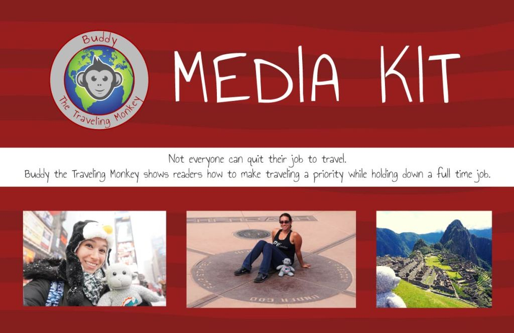 Buddy The Traveling Monkey Media Kit