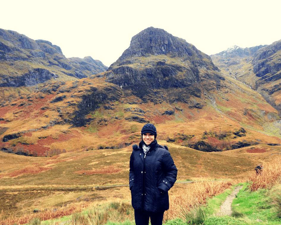 Enjoying the beautiful landscape in the Scottish Highlands