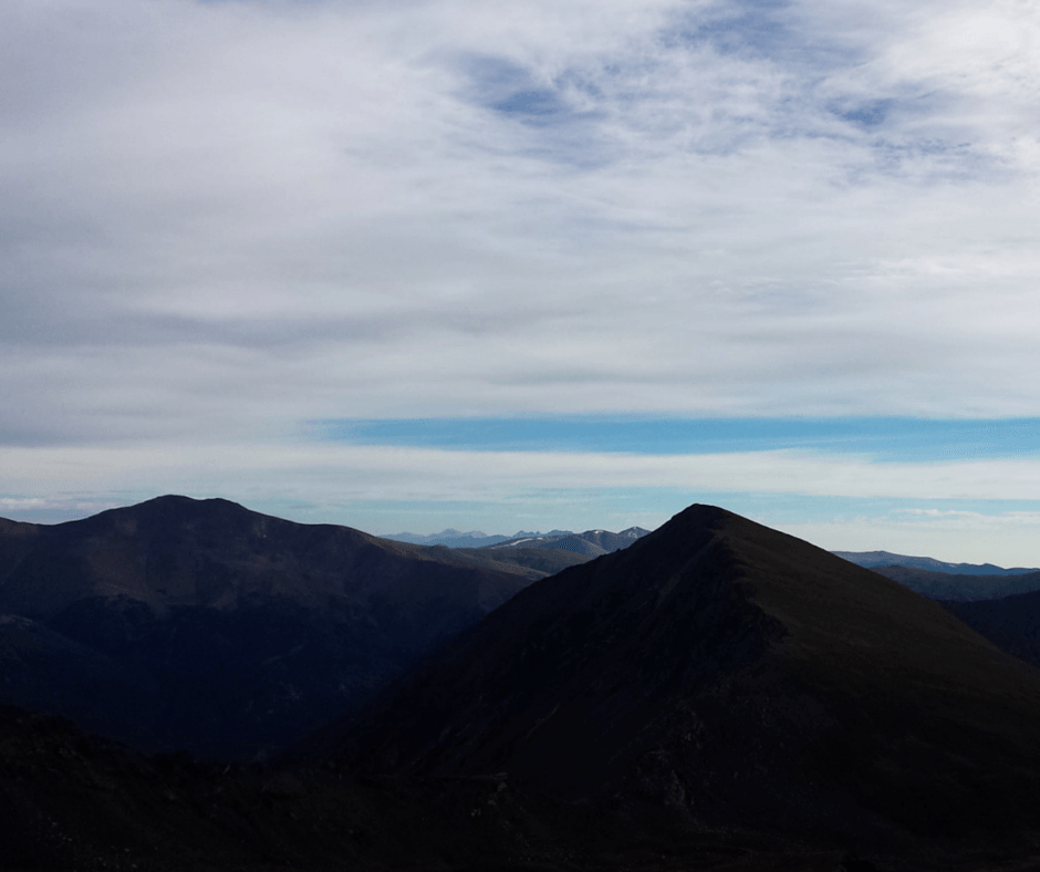 The view from the top of Grays Peak