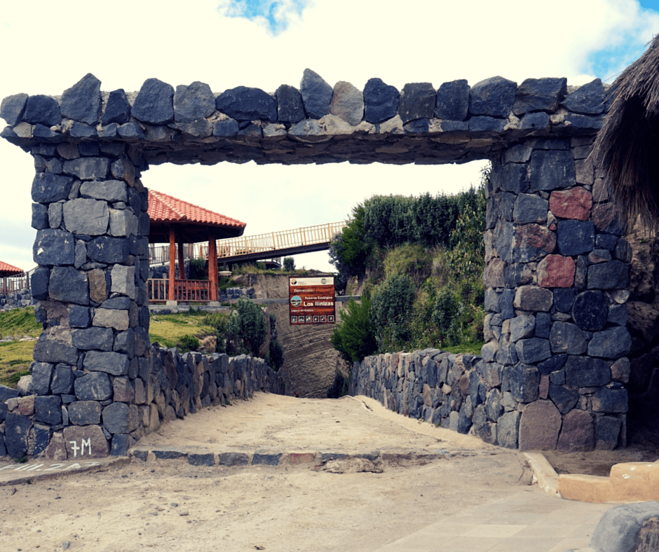 The entrance to Lake Quilotoa