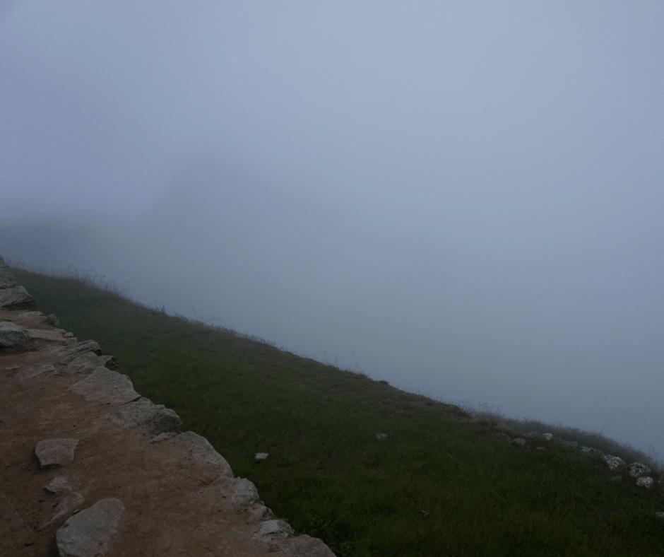 Our first glimpse of Machu Picchu