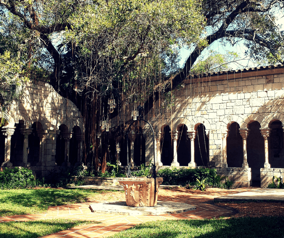 well inside the Ancient Spanish Monastery in North Miami Beach