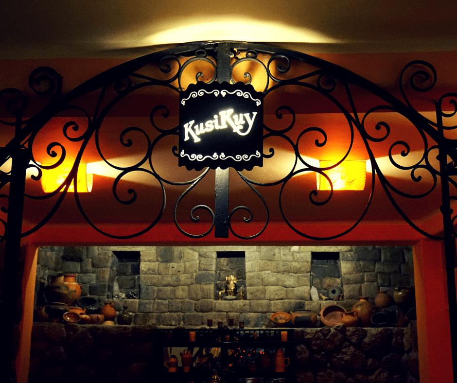 inside KusiKuy restaurant In Cusco