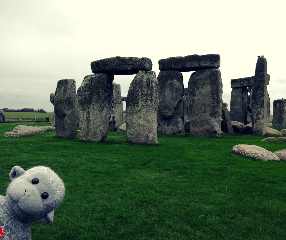 Buddy at Stonehenge
