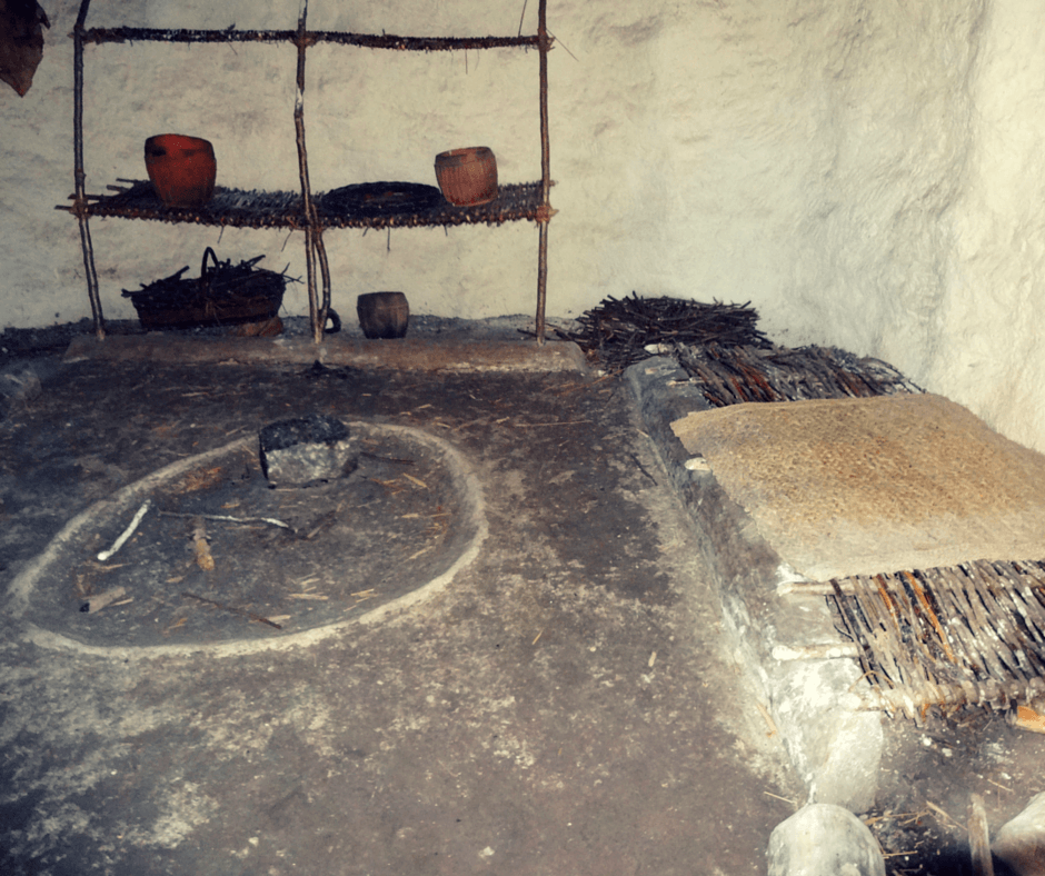 Inside a Neolithic houses in Stonehenge