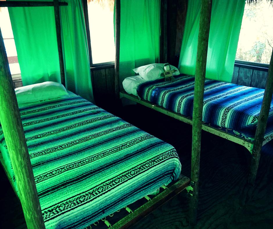 Inside a chickee hut at Billie Swamp Safari