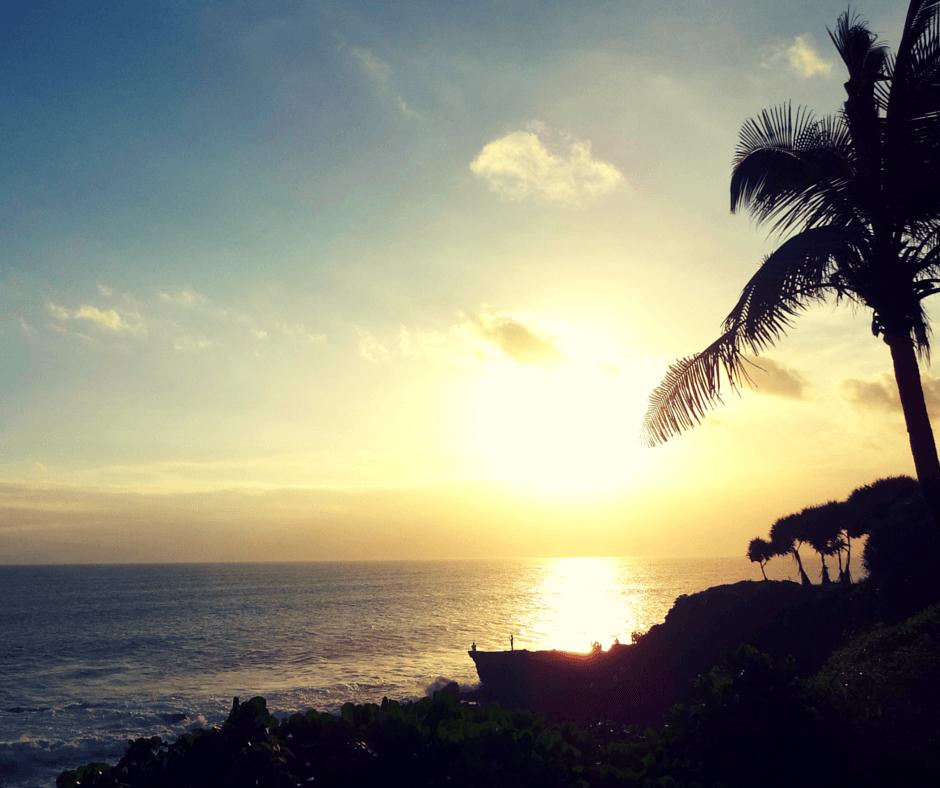 Pan Pacific Nirwana Bali Resort, Tabanan sunset