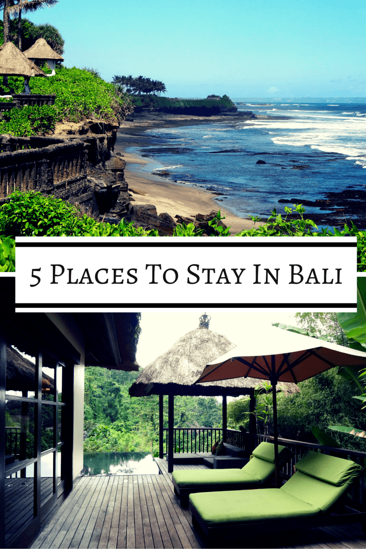 If you're planning a trip to Bali, we've got you covered with 5 hotels all around the island ranging in price from about $30 to $500.