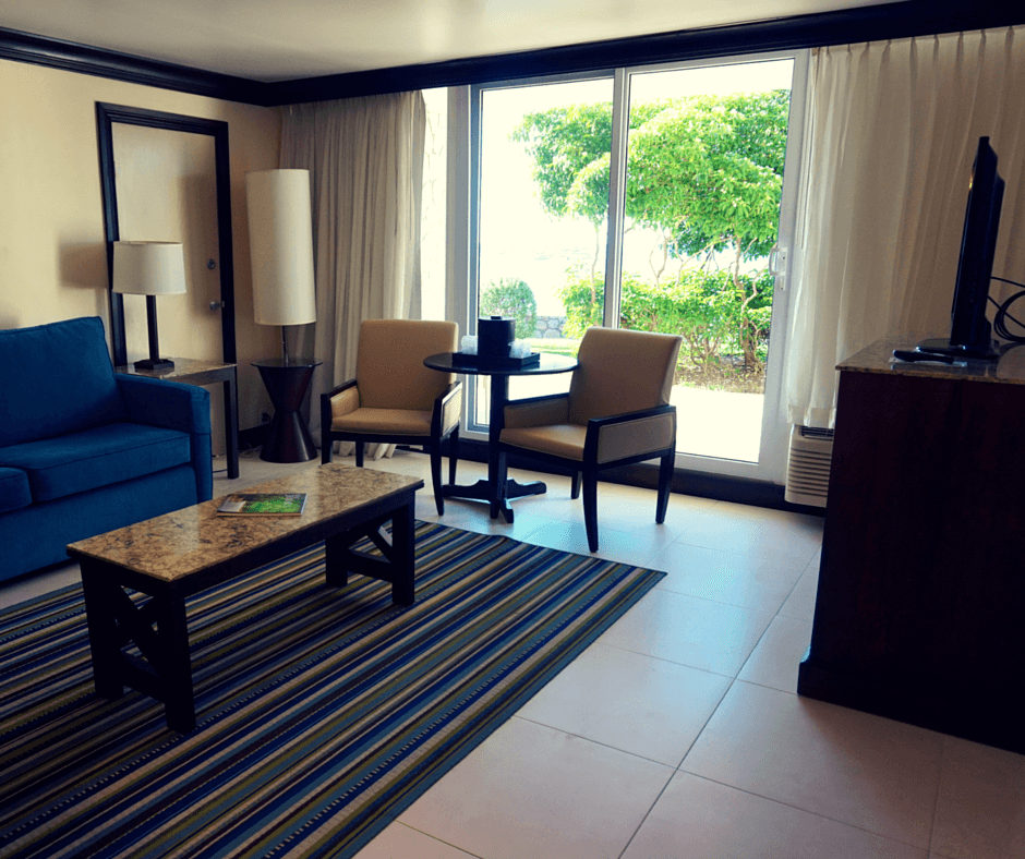 living area in our Holiday Inn Resort Montego Bay room