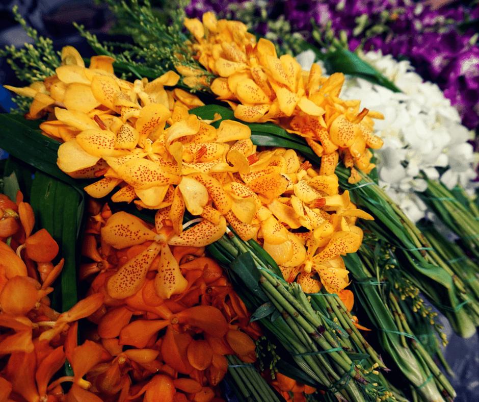 Flowers at Pak Khlong Talat, the largest Bangkok Flower Market