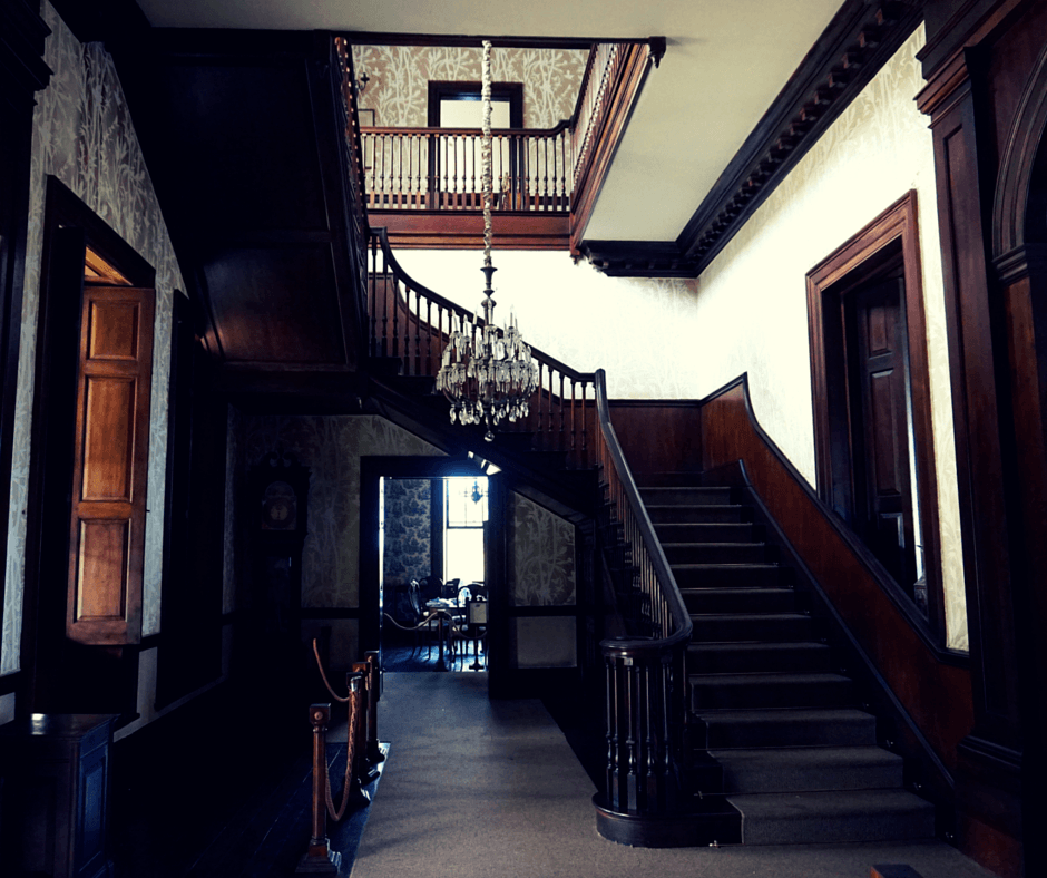 staircase inside Rose Hall Great House