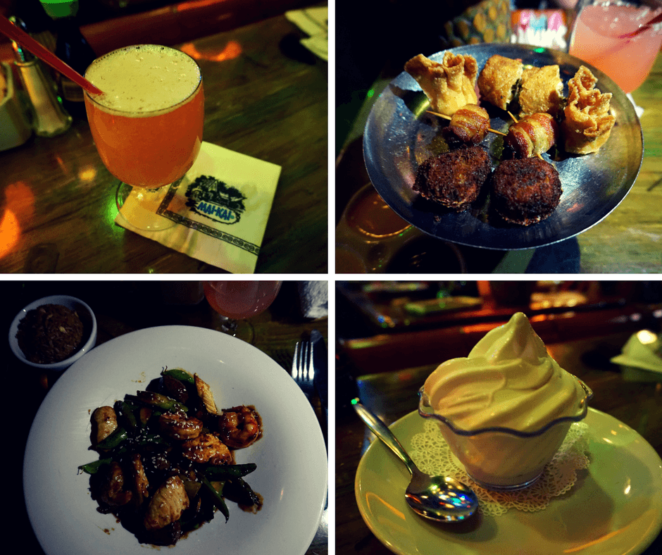 food and drinks at Mai-Kai Restaurant
