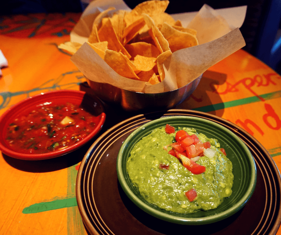 chips and guacamole at Cactus on Alki Beach in West Seattle