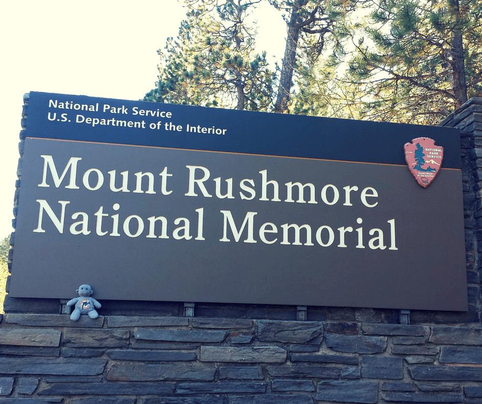 Buddy The Traveling Monkey Mount Rushmore