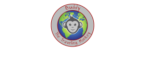 Buddy the Traveling Monkey, travel while working full time, logo