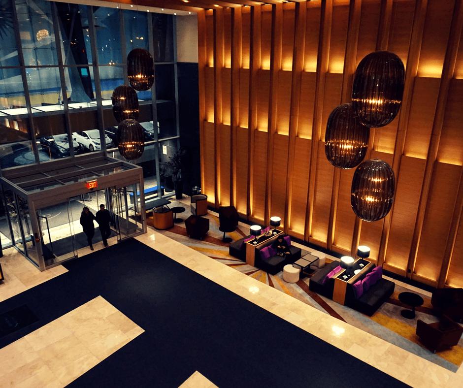 Lobby of Delta Hotel Toronto