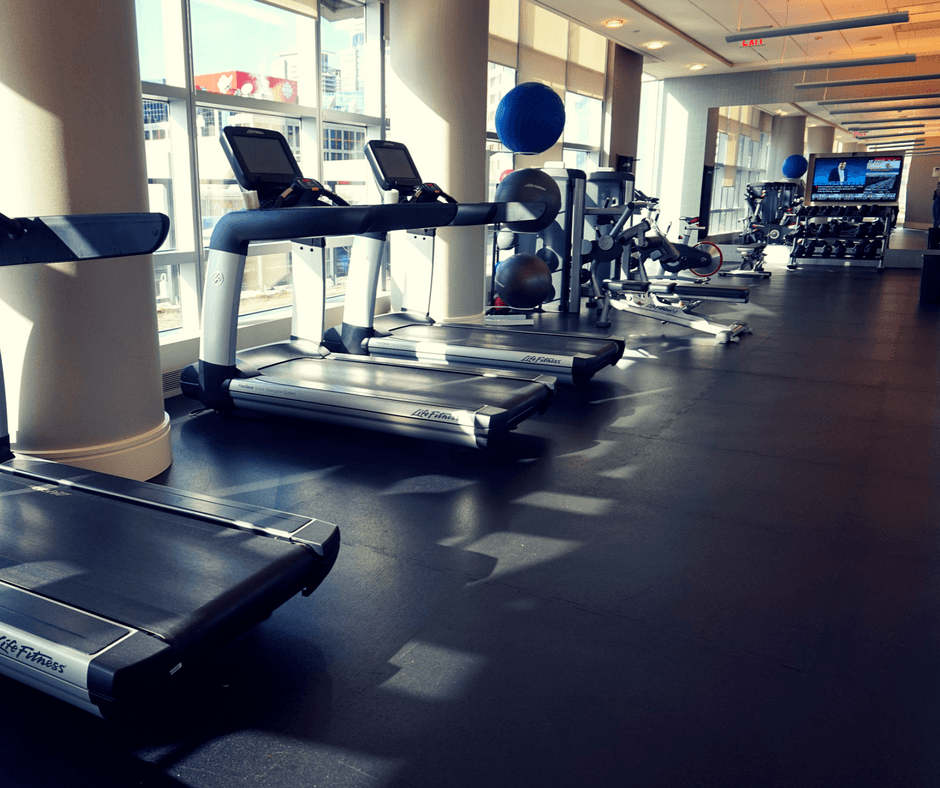 The Delta Hotel Toronto gym and equipment