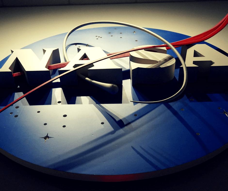 Nasa sign inside Space Center Houston