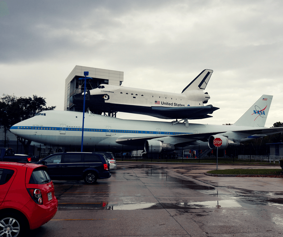 The aircraft of Independence Plaza at Space Center Houston