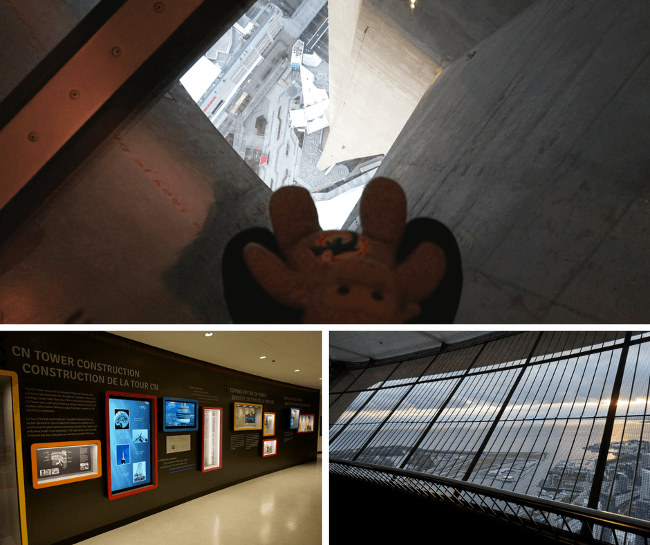 Inside the CN Tower in Toronto