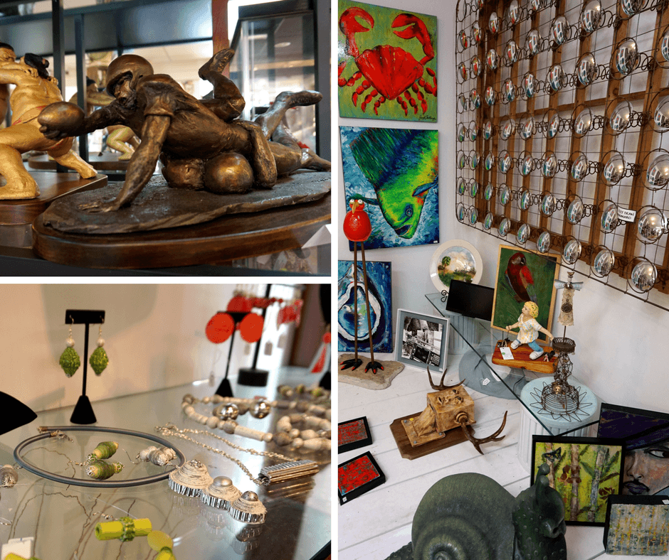 Artisans on the Ave Gallery, sculptures, jewelry
