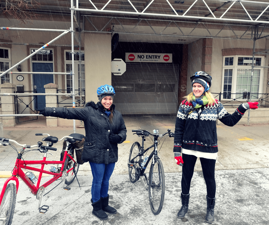 Vicky and Lindsay with Toronto Bicycle Tours