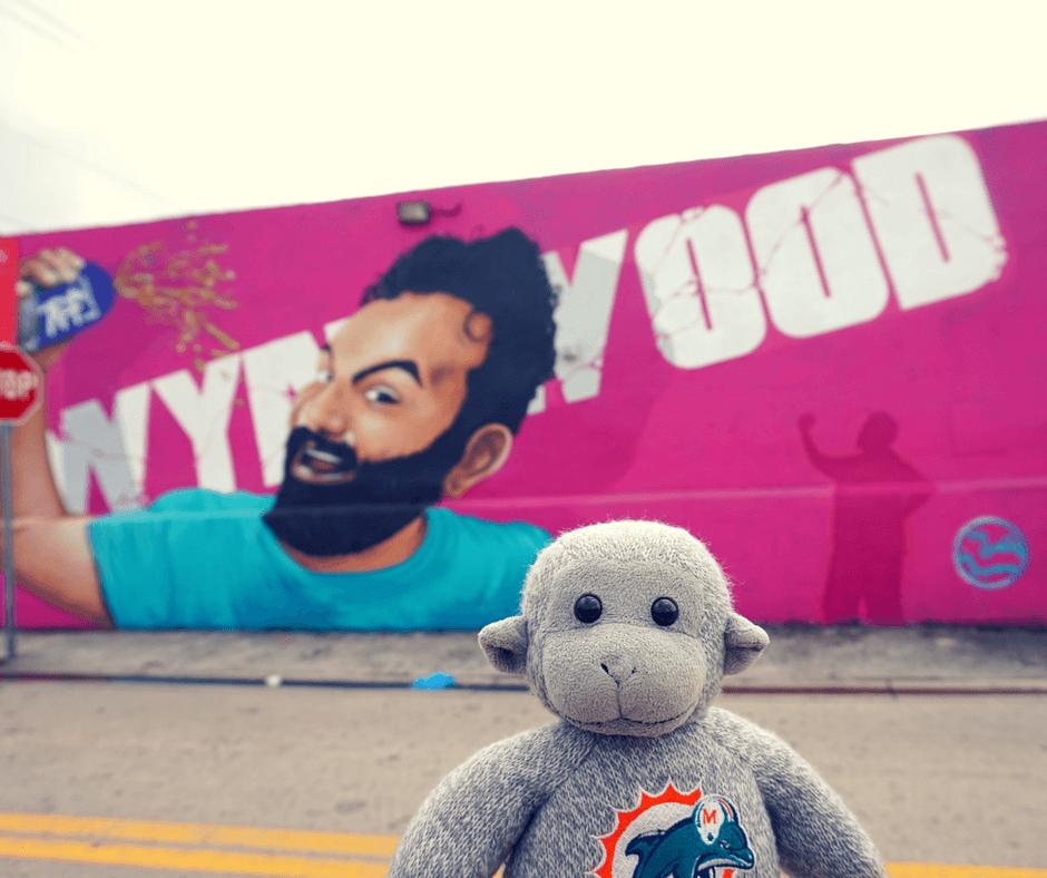 Selfie mural in Wynwood