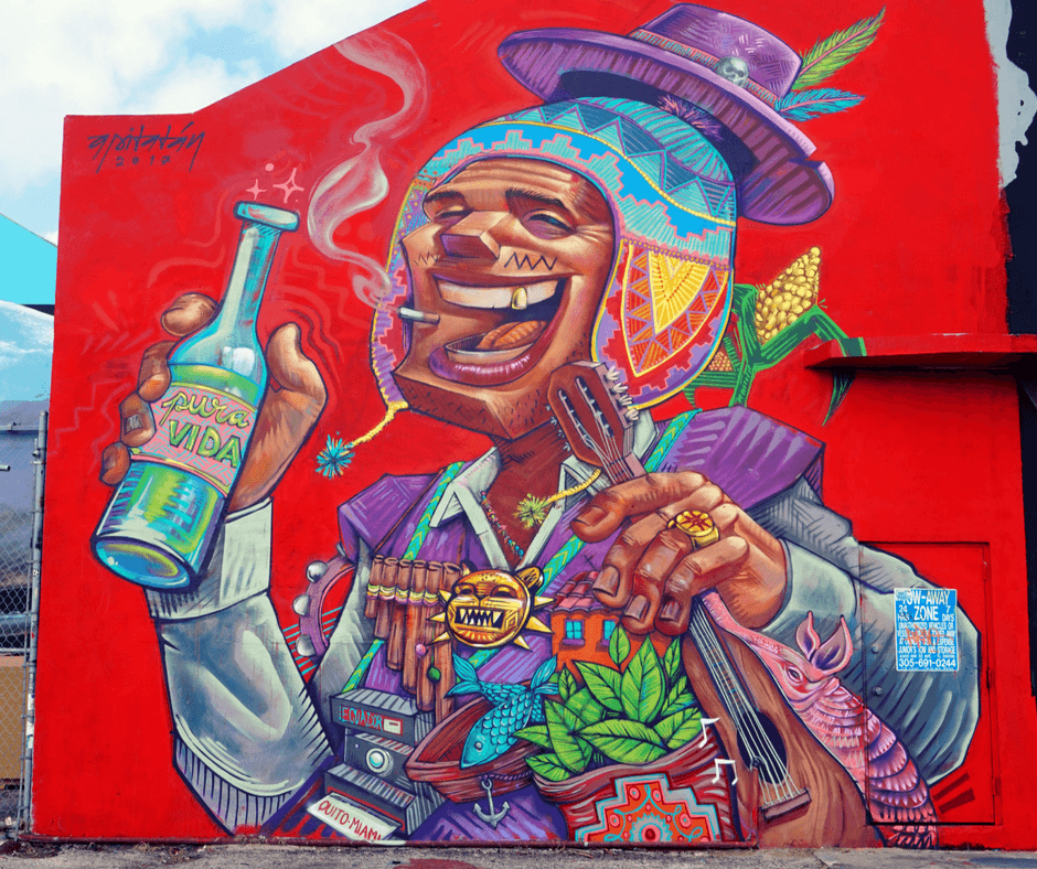 Mural from Ecuador artist Apitatán in Wynwood