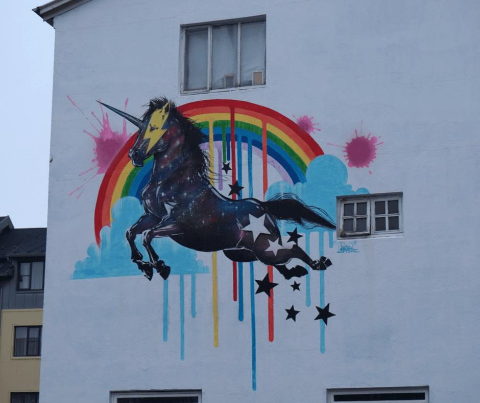Street Art in Reykjavik Iceland
