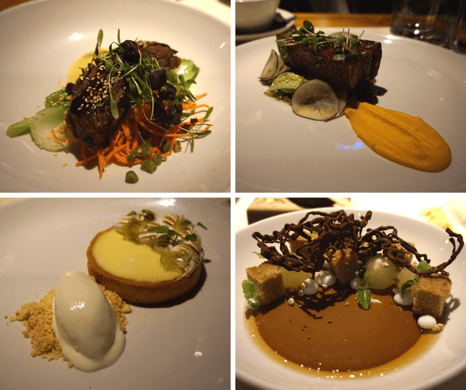 Sticky pork belly, key lime pie, chocolate creme from Lavelle