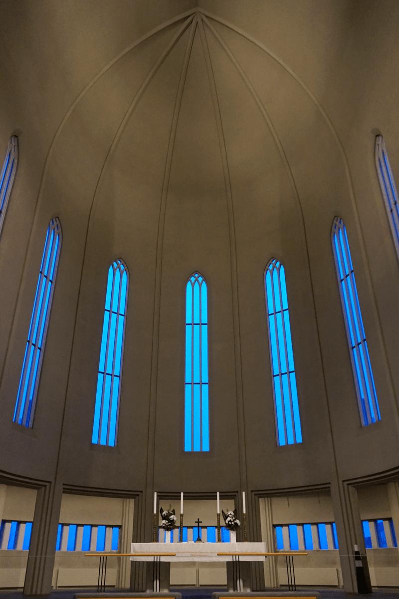 Inside Hallgrímskirkja Church