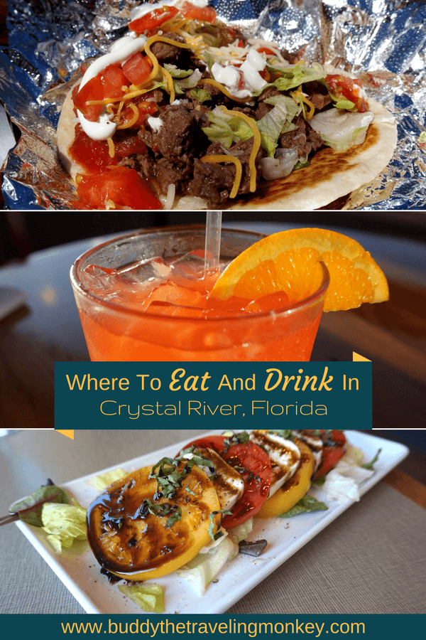 The best places to eat and drink while visiting Crystal River, Florida. Everything from tacos to gluten-free eggs benedicts!