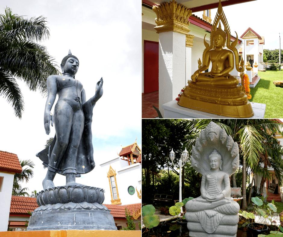 Buddhist statues in Miami temple