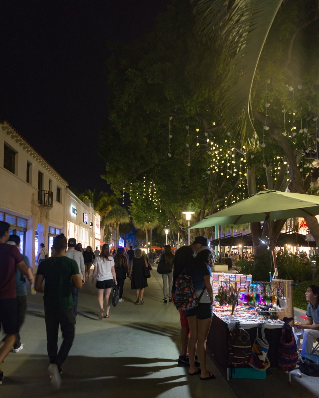 People walking on Lincoln Road