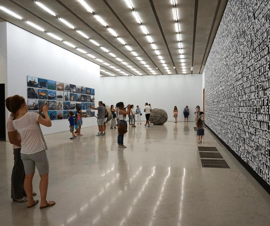 art lovers in Perez Art Museum in Miami