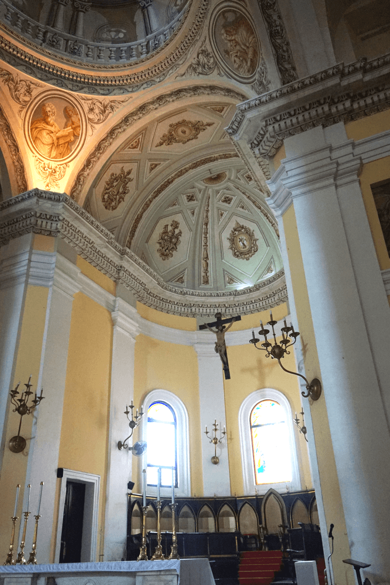 inside Cathedral of San Juan Bautista