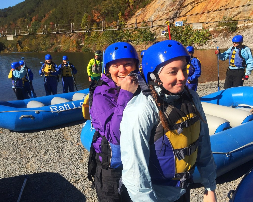 rafting down the Ocooee River in Tennessee